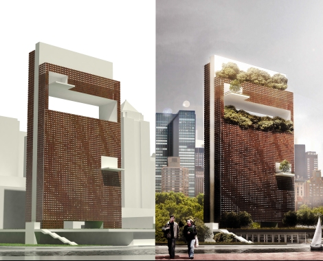 Architectural rendering photoshop montage john michael wilyat